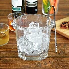 食器 アイスペール おしゃれ アイスバスケット トング ガラス 日本製 カフェ風 (M-6803) シュマールアイスペール