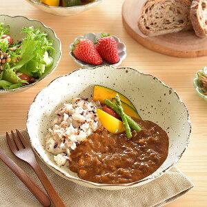 食器 カレー皿 パスタ皿 おしゃれ 和食器 モダン 美濃焼 大皿 麺皿 アウトレット カフェ風 白化粧菊形6.8深皿