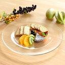 食器 大皿 おしゃれ 日本製 ガラス 盛皿 プレート アウトレット カフェ風 アキュア30.8cmプレート