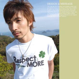 T shirt short sleeve print RESPECT MORE OK ♪ NET limited message T shirt mens Womens XS S M L XL size 10P13oct13_b
