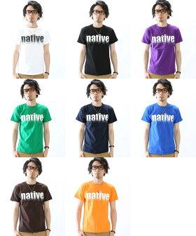 【Tシャツレディース半袖】【Tシャツレディース】【Tシャツメンズ】【Tシャツ白】【Tシャツ黒】native150160SMLXL