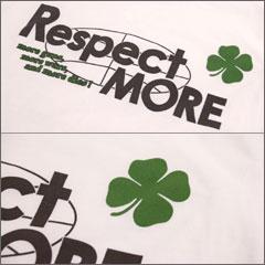 Tシャツ半袖プリントRESPECTMOREネコポスOK♪【倉敷児島発/SS】ネット限定メッセージTシャツメンズレディースXSSMLXLサイズ