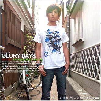 T shirt short sleeve printed GLORY DAYS OK ♪ NET limited message T shirt mens ladies design 10P13oct13_b