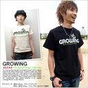 ★ネコポスOK♪【倉敷児島発/SS】growing/mi-215.ネット限定メッセージTシャツ