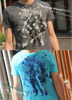 Tシャツ半袖MORTENSENWALKネコポスOK♪【倉敷児島発/SS】mi-215.ネット限定TシャツXSSMLXL