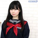 1210J●【送料無料・即納】 スクールスカーフ単品 色:赤 サイズ:フリー TeensEver セーラースカーフ