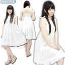 1155F★MB【送料無料・即納】 お出かけ白ワンピース サイズ:M/BIG 色:白 サマードレス コスチューム コスプレ