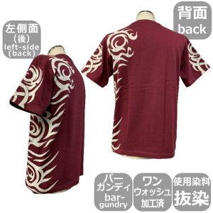 和柄Tシャツ「トライバル-4-」半袖tシャツアメカジ京都送料無料メンズレディース大きいサイズ生地服手染京友禅