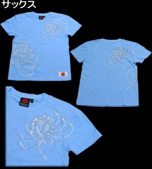 和柄Tシャツ「乱菊」華京都送料無料メンズレディースオリジナル大きいサイズ生地手染京友禅代引は通常送料