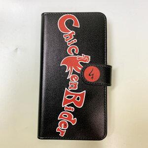 和柄スマホ手帳型ケース「チキンライダー」ブラックアンドロイド専用スマホケースデザインケース送料無料携帯ケースXperiaAQUOSgalaxyHUAWEIarrowsAndroidOneDisneyMobileFREETELHTCKYOCERALGTONEZenFoneらくらくスマートフォンカバー