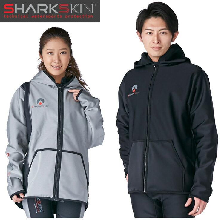 【SHARKSKIN】シャークスキン チルプルーフ フードジャケット ブラック ダイビング 防寒 寒さ対策 船 ボート 【10P07Feb19】