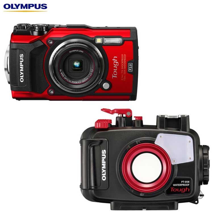【あす楽対応】【OLYMPUS】オリンパス TG-5+PT-058 水中カメラセット【05P13Jun18】