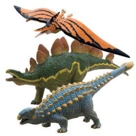 【フェバリット】DINOSAUR ビニールモデル個性派恐竜3体セット(FD305-307-308)