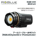 ダイビング ライト ストロボ RGBlue アールジーブルー System02(Ver.2)PREMIUM COLOR システム02バージョン2プレミアムカラー...