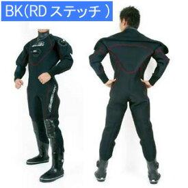 GRUSHドライスーツ メンズ DRY SUITS (BK (RDステッチ)) [ダイビング用]【送料無料】 【mic-point】