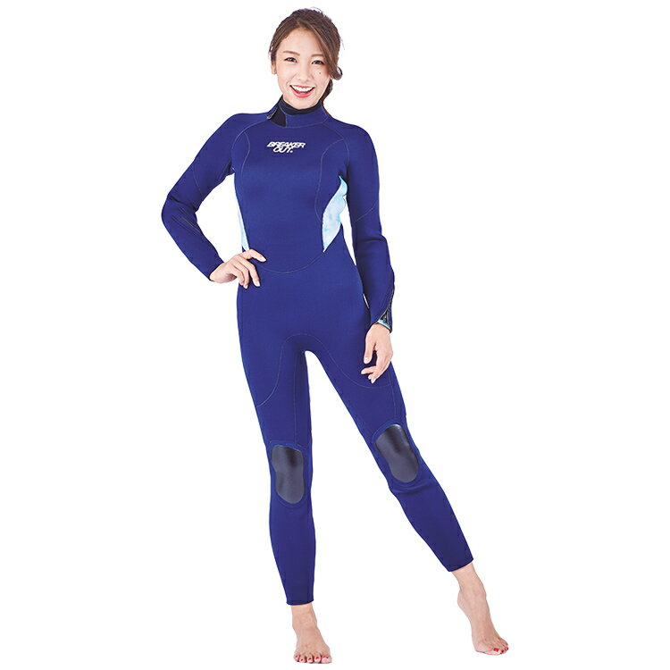 【BREAKER OUT】M-TM ワンピース 5mm [レディース] ネイビー ハイドレンジア ダイビング サーフィン ウエットスーツ【02P16Apr19】