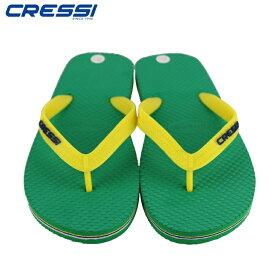ビーチサンダル クレッシー CRESSI Beach Flip Flops ビーチ サンダル Green/Yellow ビーサン
