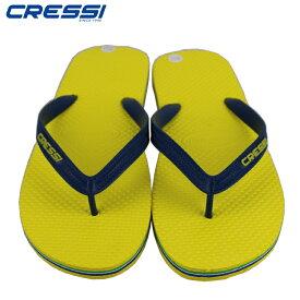 ビーチサンダル クレッシー CRESSI Beach Flip Flops ビーチ サンダル Yellow/Navy ビーサン