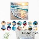 Lindo Chico Sサイズ ウォールパネル ハワイ ビーチ 西海岸 カンクン surf 海岸 夏 cali サーフ アートパネル サンセット カンクン 海...