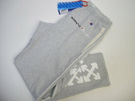 【OFF-WHITE/オフホワイトOFFWHITE/ CHAMPION/チャンピオン/スエットパンツ/スウェットパンツ/SWEAT PANT】【メンズ/男性】【GREY/グレー】【サイズXS/S/M/L/XL】【イタリア製/VIRGIL ABLOH/ヴァージルアブロー/バージルアブロー/OFF WHITE】