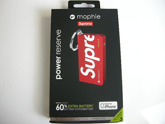 Supreme/シュプリーム/Mophie Power reserve バッテリー 充電器/スマホ/Iphone【モーフィー/モバイル/キーホルダー/キーチェーン】