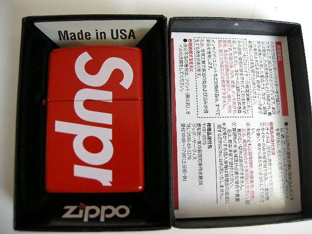 【2018SS Supreme/シュプリーム/Logo Zippo ロゴ ジッポ /ジッポー/ライター】【18SS/春夏/S/S/レッド/RED/赤/BOX LOGO/ボックスロゴ】