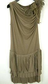 送料無料■レディース女性用■SCERVINO Street(シェルビーノストリート)■ファー装飾付き豪華ドレス ブラウン■サイズ40■ドレス