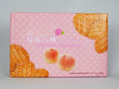 福福島白桃ワッフルクッキー 20枚入り 福島土産