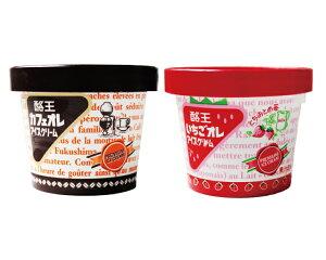 酪王カフェオレ いちごオレ アイスクリーム 6個セット (各3個) *