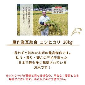 【令和2年産】【農業生産法人 農作業互助会のお米】 コシヒカリ30kg *