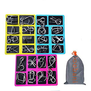 Loobani 知恵の輪 ちえのわ 謎解き 脳ティーザー リングパズル 脳トレ パズル スチールパズル 難易度 レベル 知育 遊び 玩具 おもち