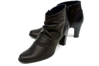 Stylish FIZZREEN fizzling leather ankle-length boots 7701 BL