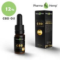 CBDオイル12%(1200mg)10mlプレミアムブラックオイルフルスペクトラムファーマヘンプPharmaHemp