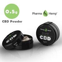 CBDクリスタル99.6%(498mg)0.5gファーマヘンプCBDパウダーPharmaHemp