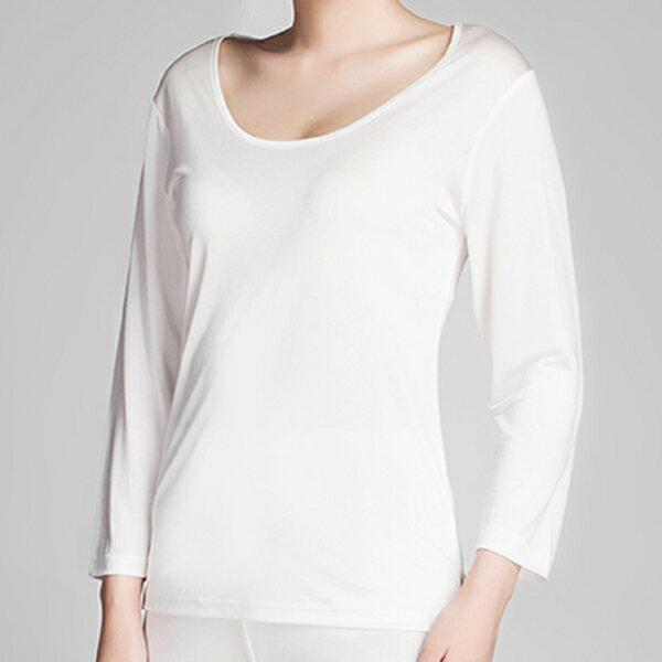 《2枚組》【シルク100%】 シルクニット七分袖インナーシャツ ホワイト【絹100%】【冷え取り】【長袖】【保温】【ネコポス対応可】