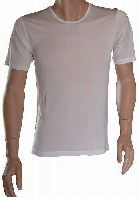 《2枚組》シルク100% シルクニット紳士用(メンズ)半袖インナーシャツ ホワイト【絹100%】【保温】【ネコポス対応可】