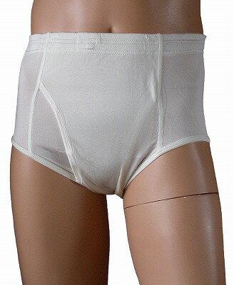 《2枚組》【シルク100%】 シルクニット紳士(メンズ)ブリーフ ホワイト【保温】【抗菌】【白】【絹100%】【ネコポス対応可】