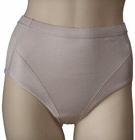 厚手防寒肌着 シルクのフィットショーツ  ライトモカ  絹95%(フルバック)