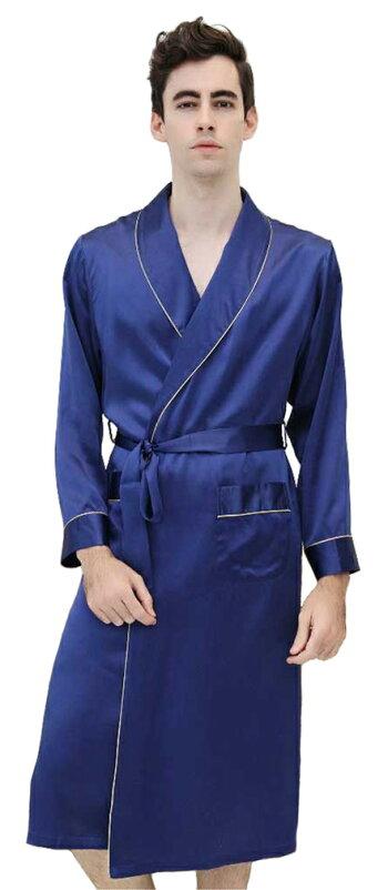 紳士シルクローブ(絹製品)〜メンズナイトウェア(絹100%)
