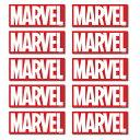 【10枚SET】MARVEL マーベルBIGステッカー 20×8cm ボックスロゴステッカー 2色 【メール便送料無料】