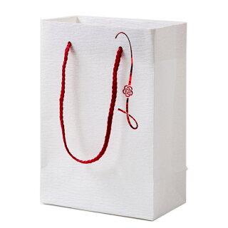 プチギフト専用バッグ和風結婚式引き出物紙袋【和風バッグ梅結び】和婚引き出物袋マチ広手提げ紙袋
