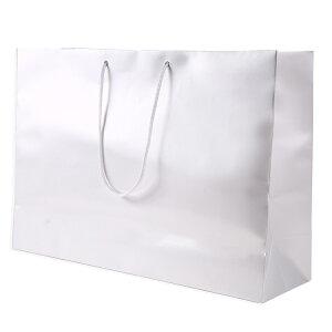 特大サイズ 紙袋 5枚【ギフトバッグ 特大】 白 黒 大きい 高級手提げ袋 幅60cm×高さ42cm×マチ18cm ( イベント 周年行事 記念式典 包装 業務用手提げ 無地 手提げ ラッピング プレゼント ギフト