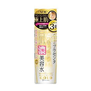 ホワイトラベル 金のプラセンタもっちり白肌濃美容水/濃密/保湿/しっとり/ピアルロン酸/コラーゲン/セラミド/日本製/ミックコスモ