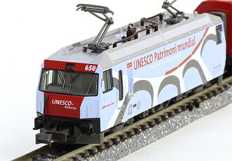 """阿尔卑斯山的冰河特快联合国教科文组织塗色7辆安排""""铁道模型N测量仪器加图"""""""