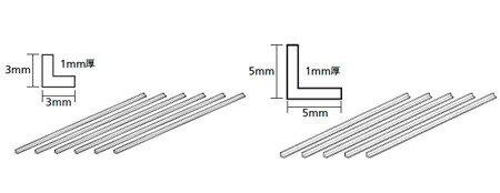 透明プラ材3mmL形棒(6本入)【タミヤ・70204】「鉄道模型 素材 TAMIYA プラモデル」