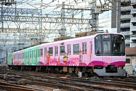 近鉄3220系(KYOTO-NARAラッピング)6両編成セット(動力付き) 【グリーンマックス・50593】「鉄道模型 Nゲージ GREENMAX」