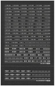 客車 郵便・荷物車車輌マークインレタ(白文字)【グリーンマックス・6311】「鉄道模型 Nゲージ オプションパーツ」