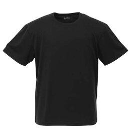 【新着商品!】 大きいサイズ メンズ 2Pクルーネック半袖Tシャツ Phiten (ブラック) (2L 3L 4L 5L 6L 8L) 【あす楽対応】
