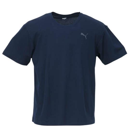 大きいサイズ メンズ DRYハニカム半袖Tシャツ PUMA (ネイビー) (3L 4L 5L 6L 8L) 【あす楽】