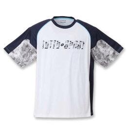 【新着商品!】 大きいサイズ メンズ エステル天竺半袖シャツ LOTTO (ホワイト) (3L 4L 5L 6L 8L)